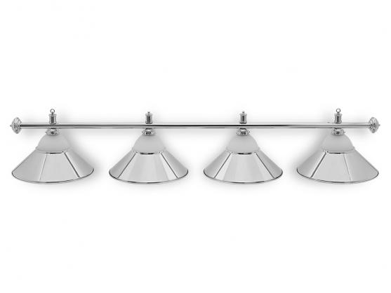 Светильник бильярдный Classic Silver 4 плафона