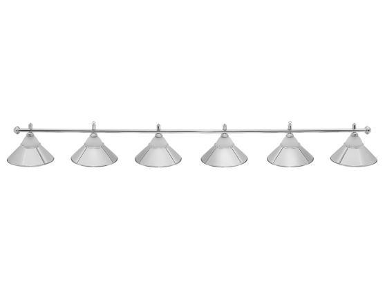 Светильник бильярдный Classic Silver 6 плафонов