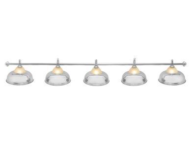 Светильник бильярдный Queen Silver 5 плафонов