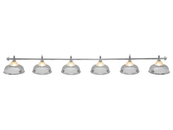 Светильник бильярдный Queen Silver 6 плафонов