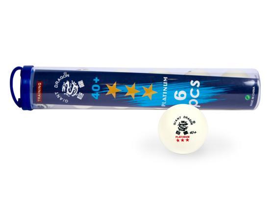 Мячи для настольного тенниса Giant Dragon Training Platinum 40+ 6шт 3зв белые