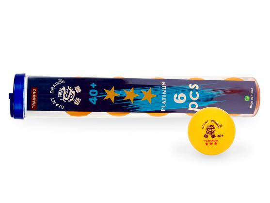 Мячи для настольного тенниса Giant Dragon Training Platinum 40+ 3зв 6шт желтые