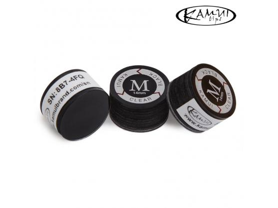 Наклейка для кия Kamui Clear Black 14мм Medium 1шт
