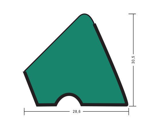 Резина для бортов Пирамида U118 130см 9Фт 6шт
