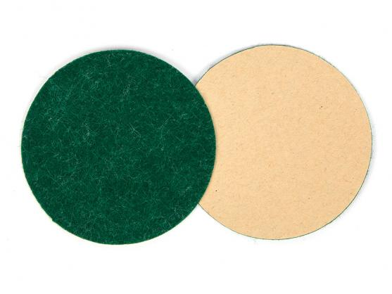 Наклейка фетровая для биты D73мм зеленая