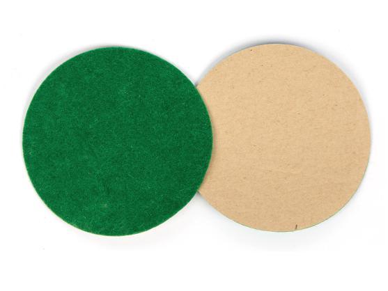 Наклейка фетровая для биты D96мм зеленая