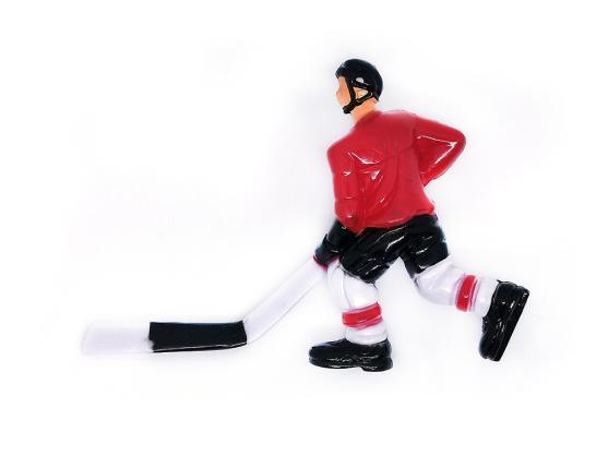Хоккеист для настольного хоккея №17 красный