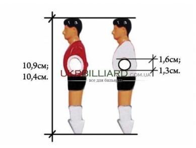 Футболист для настольного футбола 16мм красный